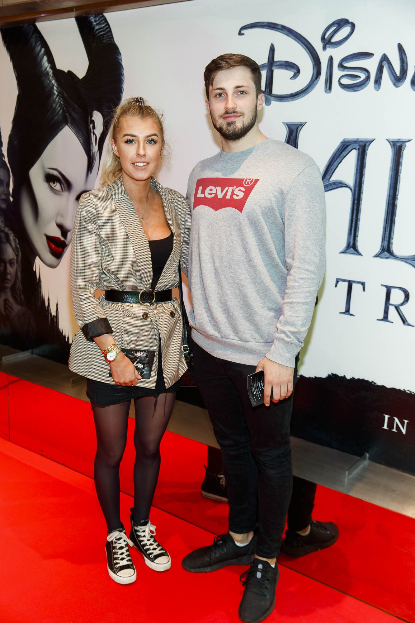 """Shannon Fox and Aidan Smith pictured a the special preview screening of Disney's """"Maleficent: Mistress of Evil' at the Light House Cinema, Dublin. Picture: Andres Poveda"""