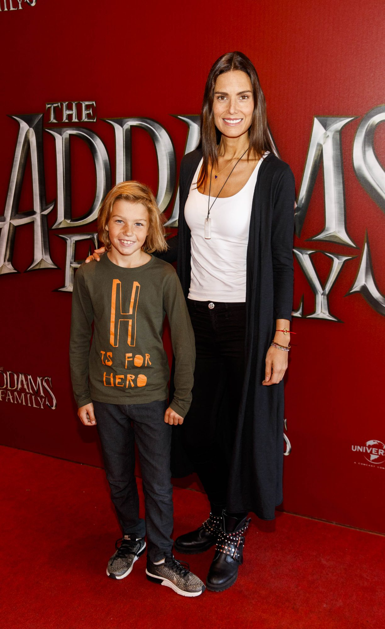 Alison Canavan and son James pictured at a special preview screening of The Addams Family at the Light House Cinema, Dublin.  Picture: Andres Poveda
