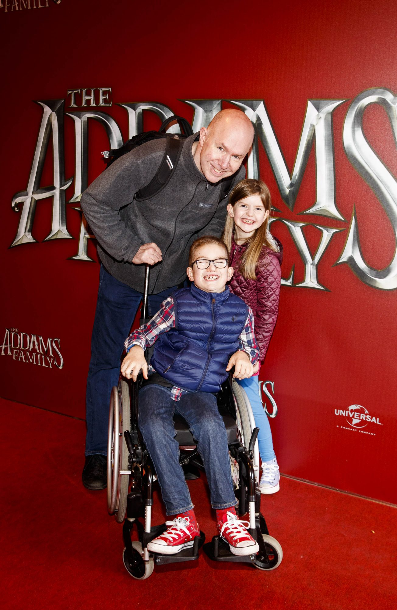 Mark,  Fionn (9) and Ava Jones (7) pictured at a special preview screening of The Addams Family at the Light House Cinema, Dublin.  Picture: Andres Poveda