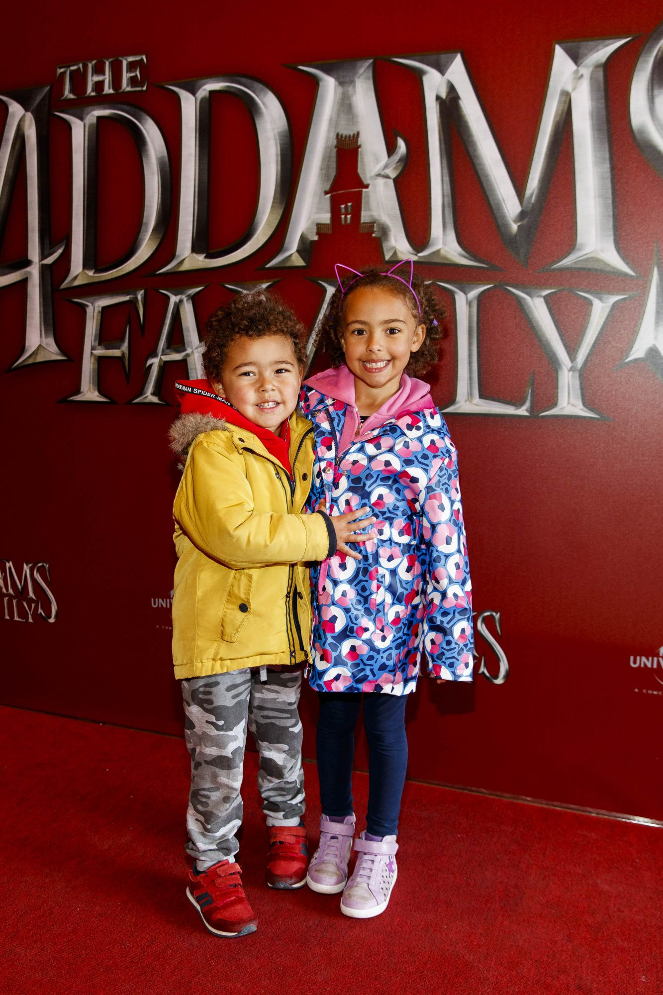 Kotey (3) Aria O'Mahoney (5) pictured at a special preview screening of The Addams Family at the Light House Cinema, Dublin.  Picture: Andres Poveda