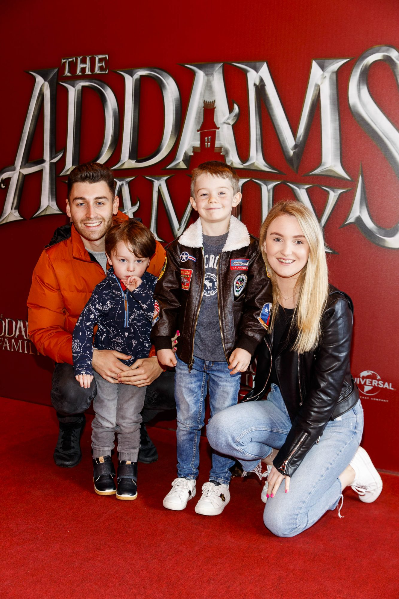 Charlie Hannigan (3), Harry O'Donoghue (6) , Emily Carew pictured at a special preview screening of The Addams Family at the Light House Cinema, Dublin.  Picture: Andres Poveda