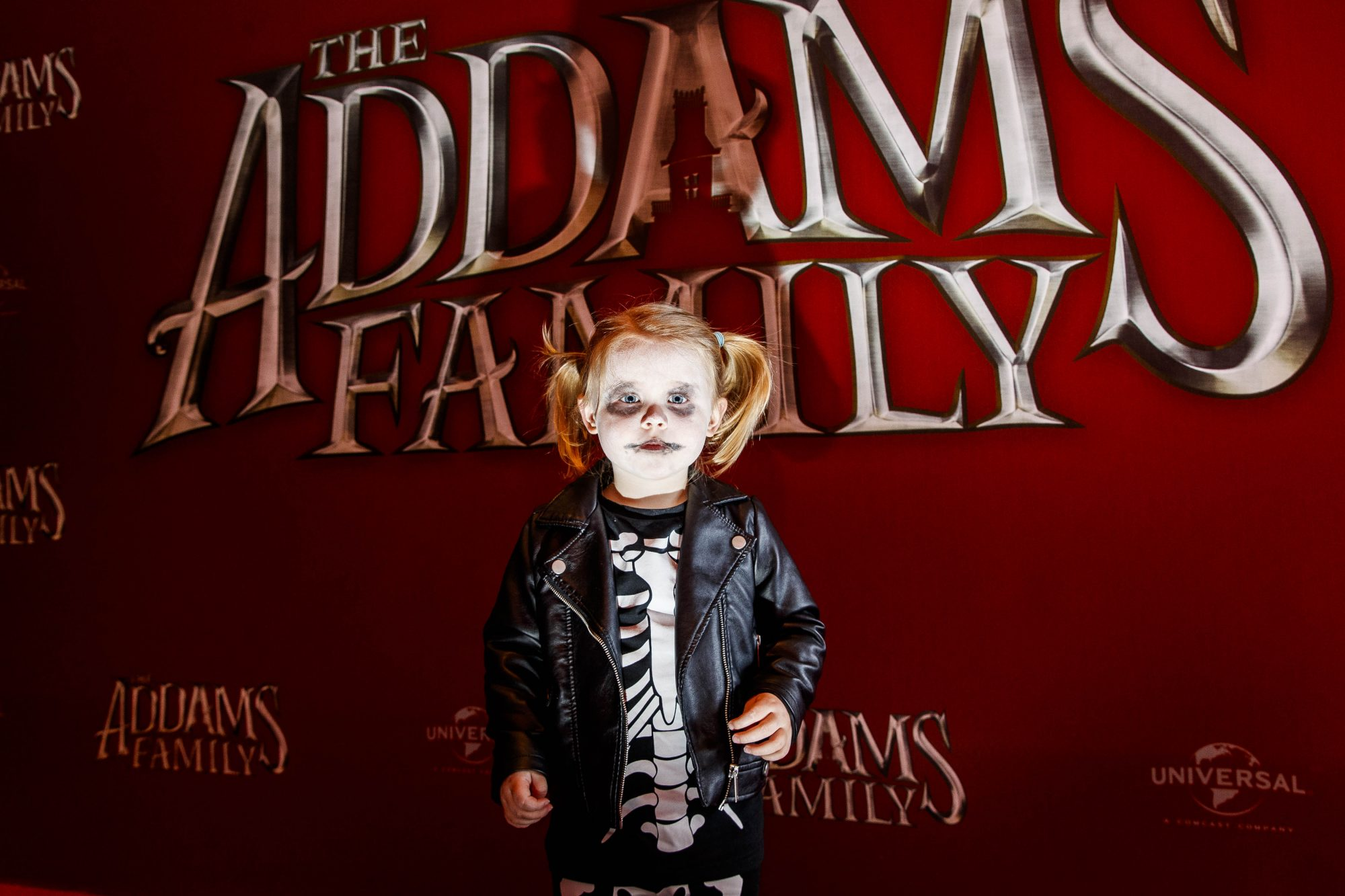 Willow Reid (2) from Dublin (8) pictured at a special preview screening of The Addams Family at the Light House Cinema, Dublin.  Picture: Andres Povedaeda