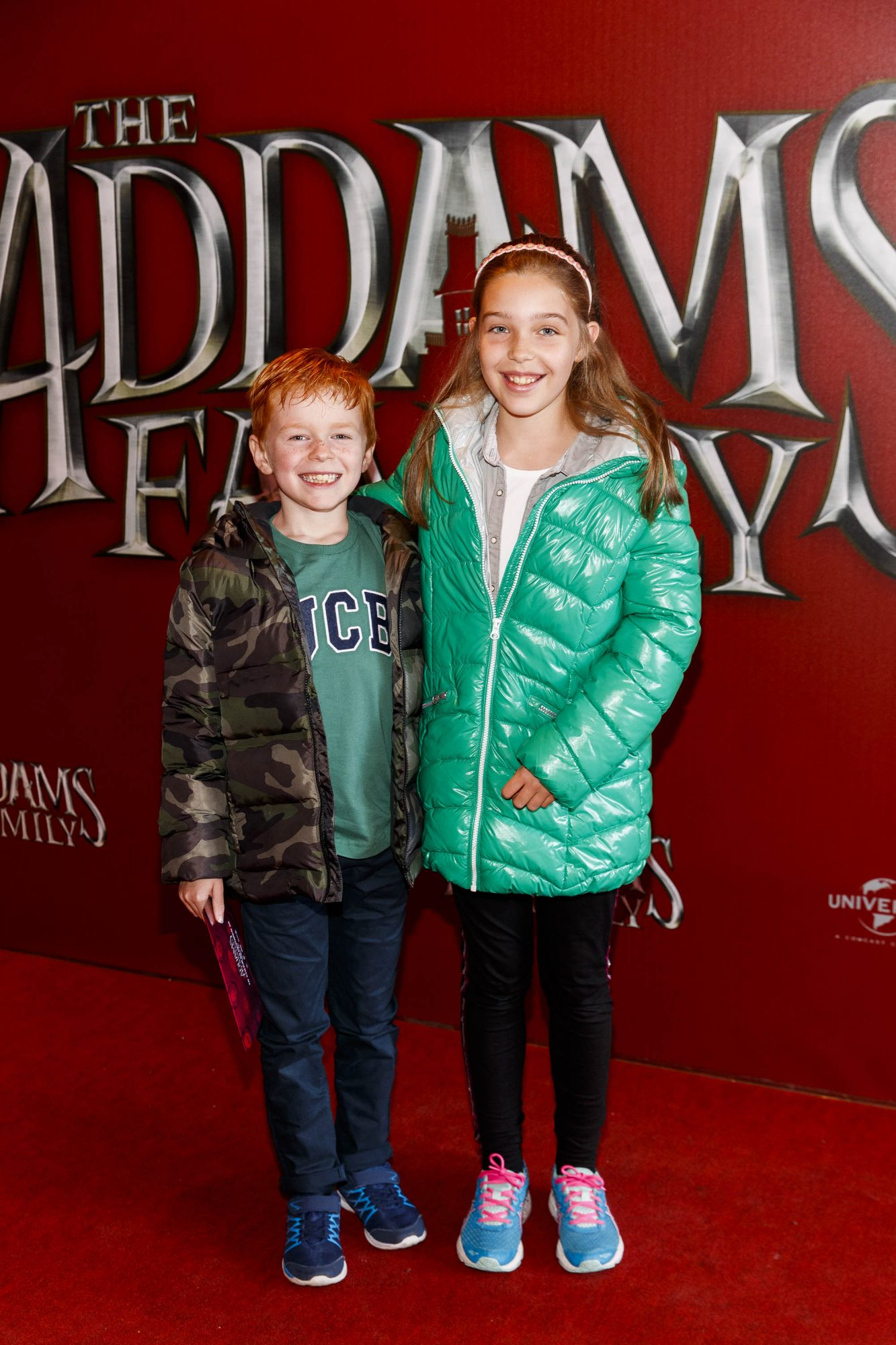 Conal Race (8) and Niamh Race (10) pictured at a special preview screening of The Addams Family at the Light House Cinema, Dublin.  Picture: Andres Poveda