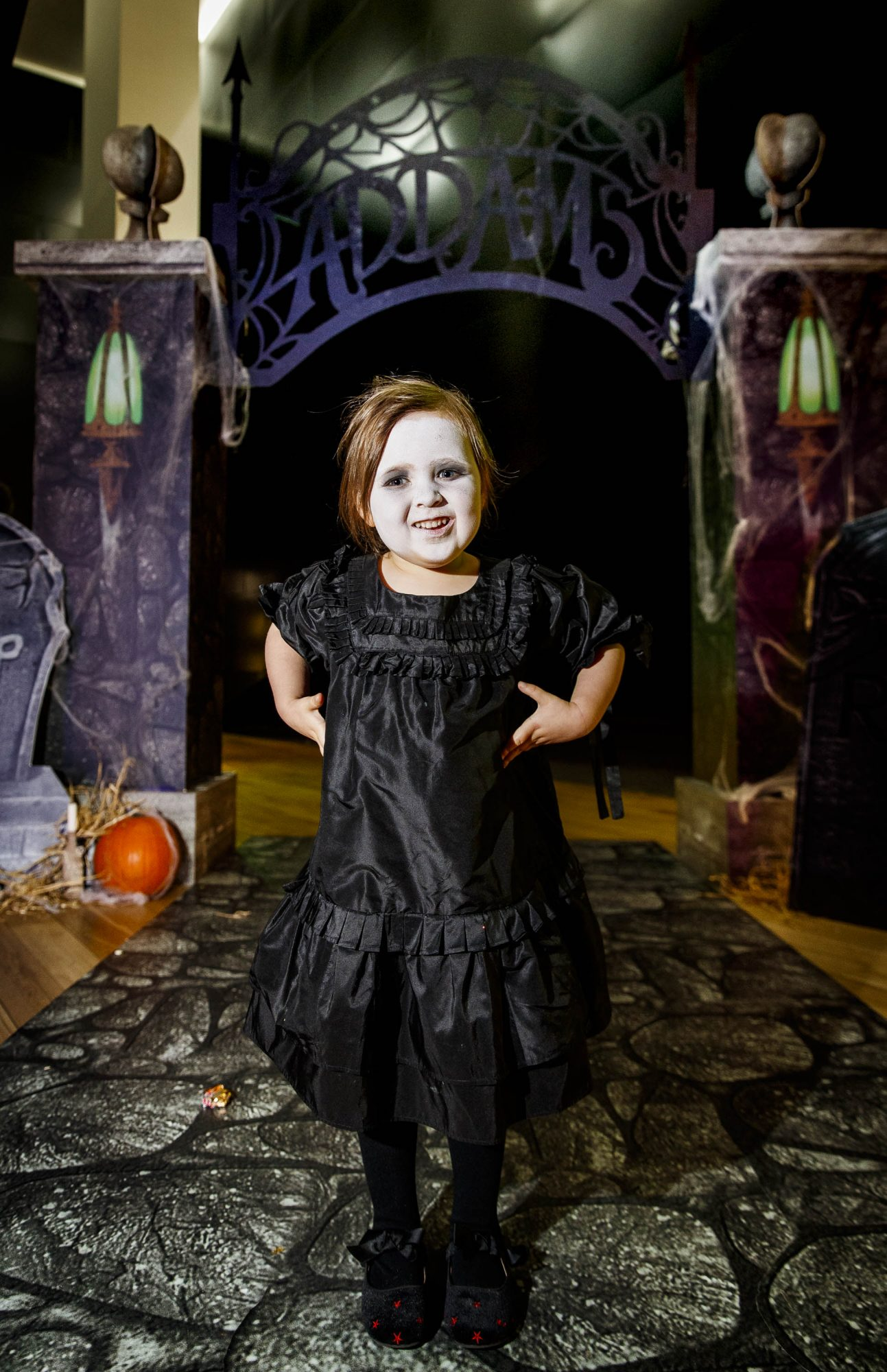 Eden Coleman (3) pictured at a special preview screening of The Addams Family at the Light House Cinema, Dublin.  Picture: Andres Poveda