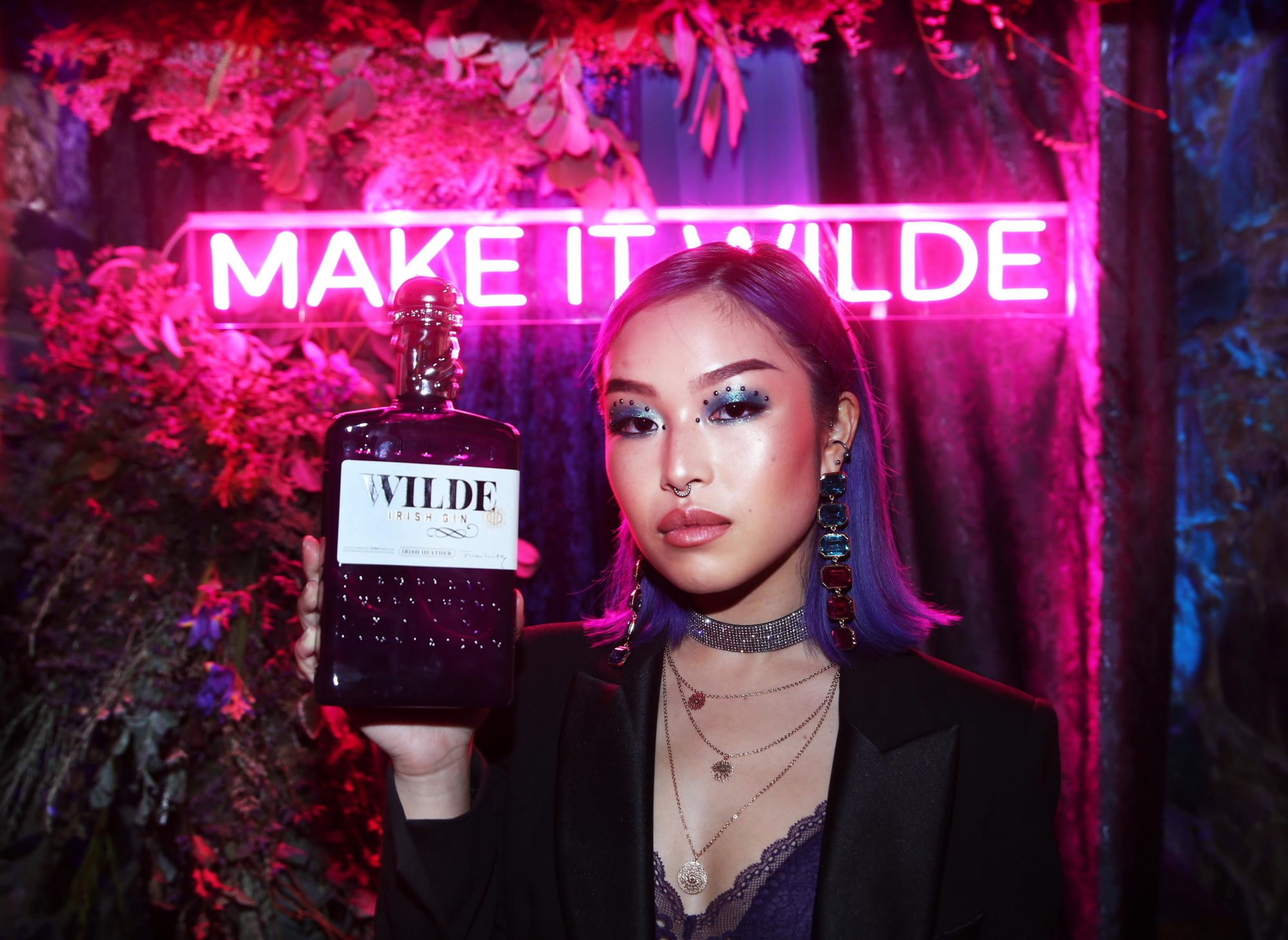 Wei Ying Chang pictured at the exclusive global launch of Wilde Irish Gin at The Cellar Bar last night. Photograph: Leon Farrell / Photocall Ireland