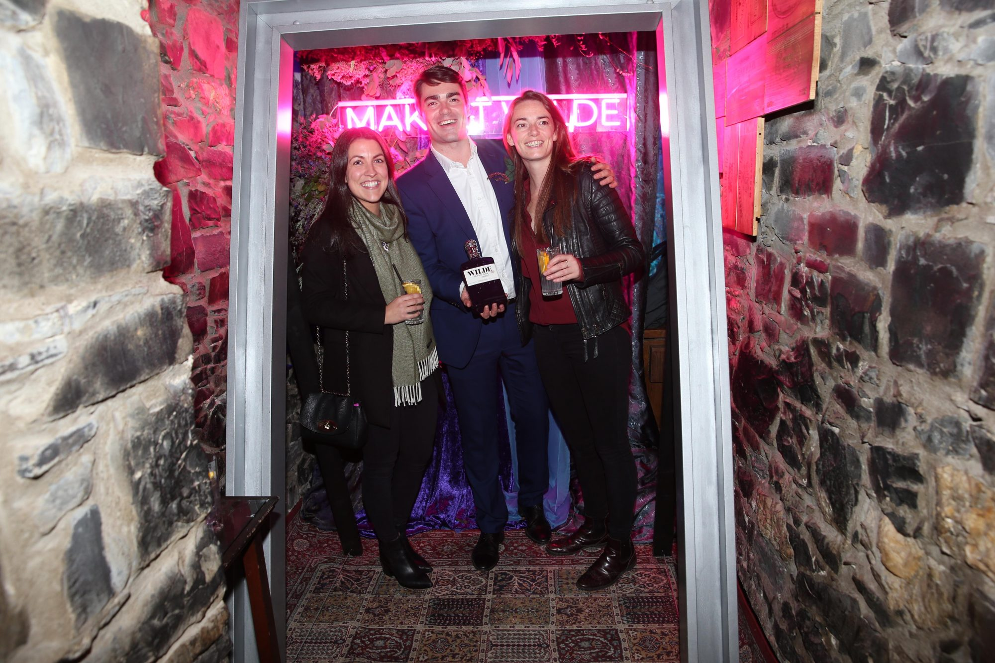 The exclusive global launch of Wilde Irish Gin at The Cellar Bar last night. Photograph: Leon Farrell / Photocall Ireland