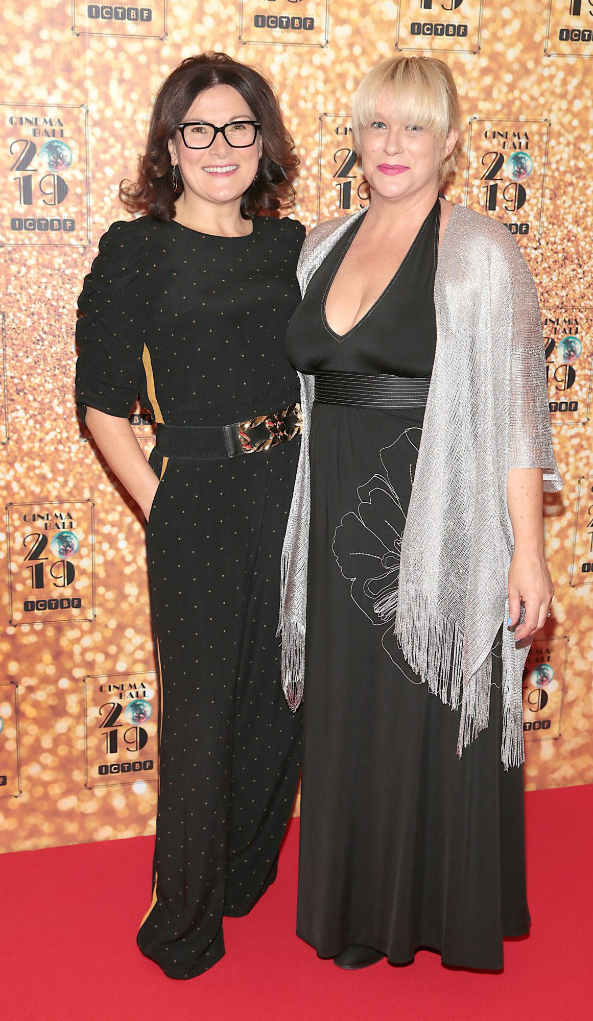 Ailish Cantwell and Aileen Galvin pictured at the Irish Cinema Ball 2019 in aid of the Irish Cinematograph Trade Benevolent Fund (ICTBF ) at The Shelbourne Hotel, Dublin This year's theme was the iconic 'Studio 54'. Pic: Brian McEvoy.