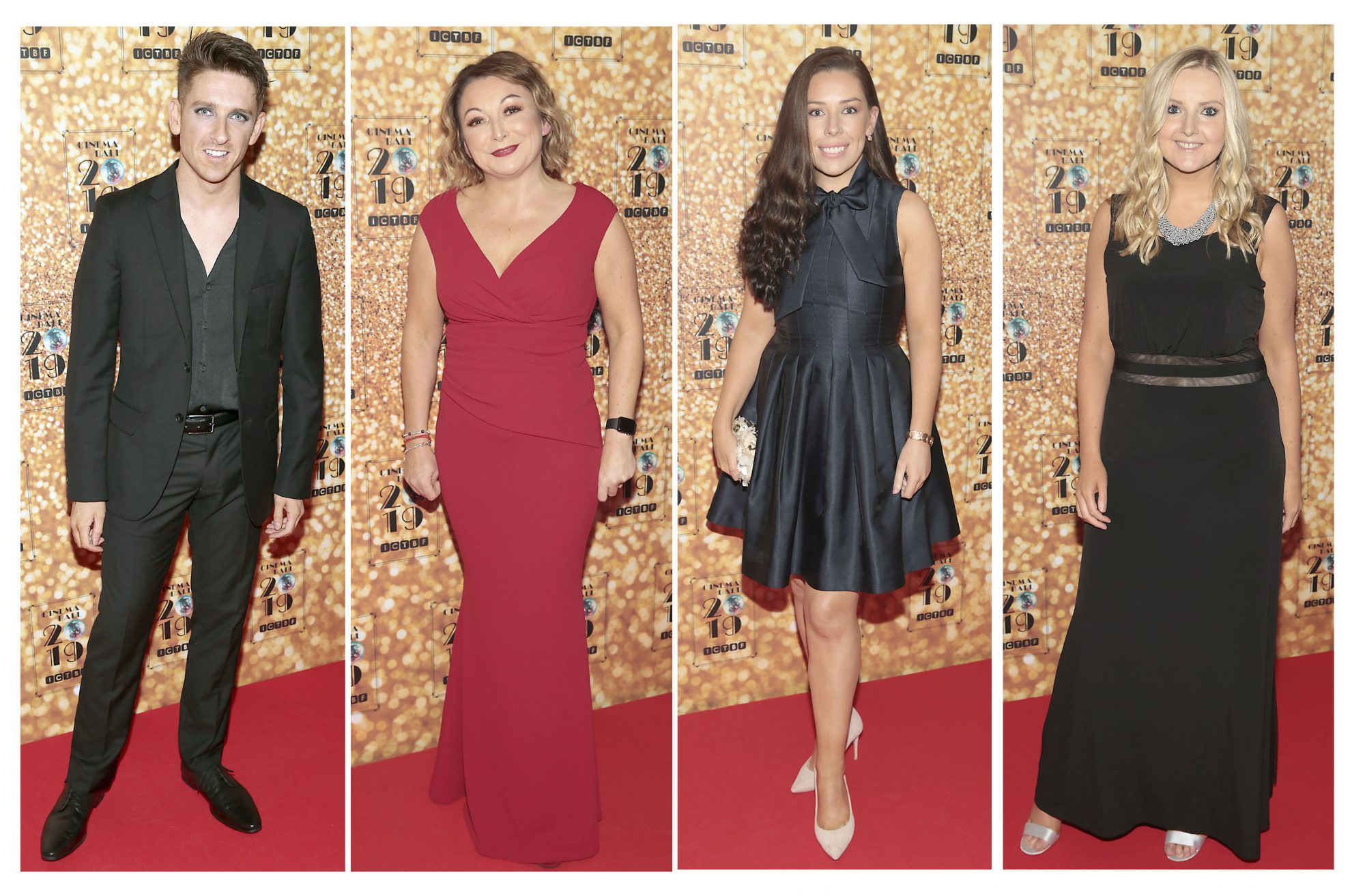 Stephen Byrne, Niamh McCaul,Tara Moran and Alison Keegan pictured at the Irish Cinema Ball 2019 in aid of the Irish Cinematograph Trade Benevolent Fund (ICTBF ) at The Shelbourne Hotel, Dublin This year's theme was the iconic 'Studio 54'. Pic: Brian McEvoy.