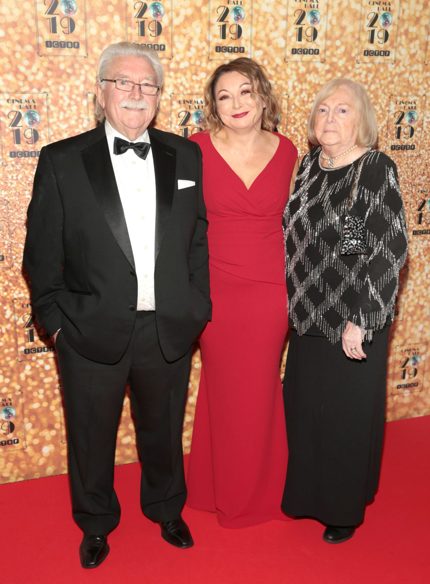 Brendan McCaul,Niamh McCaul and Marie McCaul pictured at the Irish Cinema Ball 2019 in aid of the Irish Cinematograph Trade Benevolent Fund (ICTBF ) at The Shelbourne Hotel, Dublin This year's theme was the iconic 'Studio 54'. Pic: Brian McEvoy.