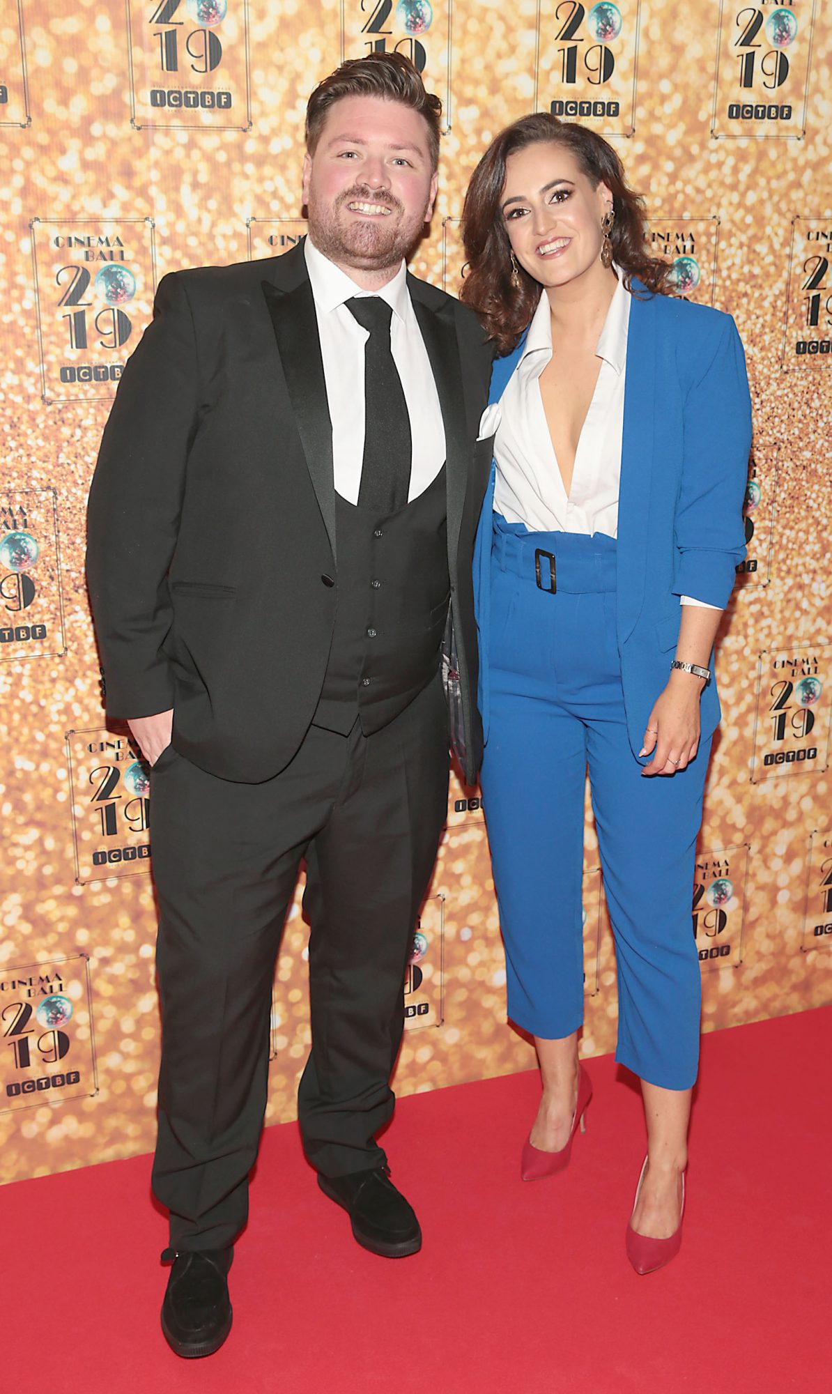 Thomas Crosse and Alice Higgins pictured at the Irish Cinema Ball 2019 in aid of the Irish Cinematograph Trade Benevolent Fund (ICTBF ) at The Shelbourne Hotel, Dublin This year's theme was the iconic 'Studio 54'. Pic: Brian McEvoy.