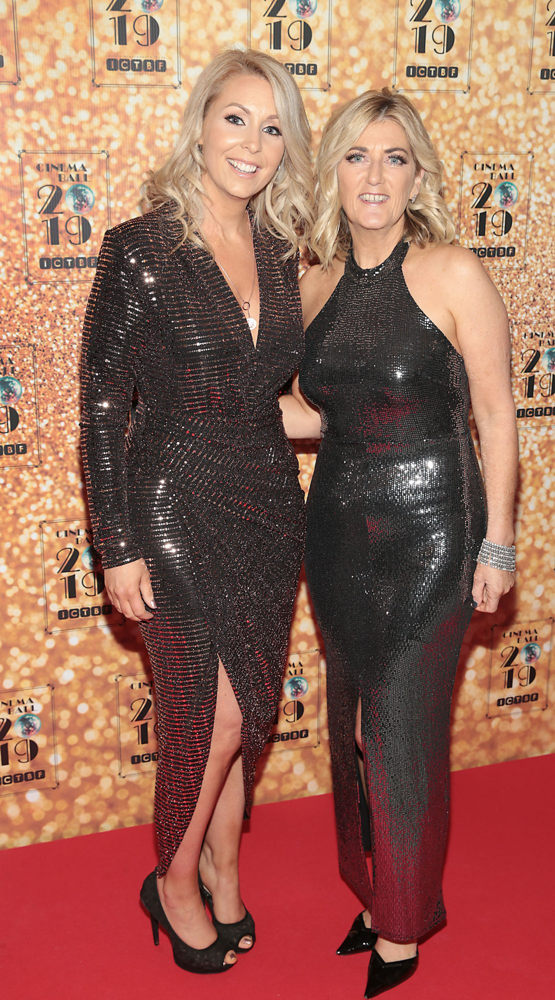 Jenna Eccles and Fiona Colley pictured at the Irish Cinema Ball 2019 in aid of the Irish Cinematograph Trade Benevolent Fund (ICTBF ) at The Shelbourne Hotel, Dublin This year's theme was the iconic 'Studio 54'. Pic: Brian McEvoy.