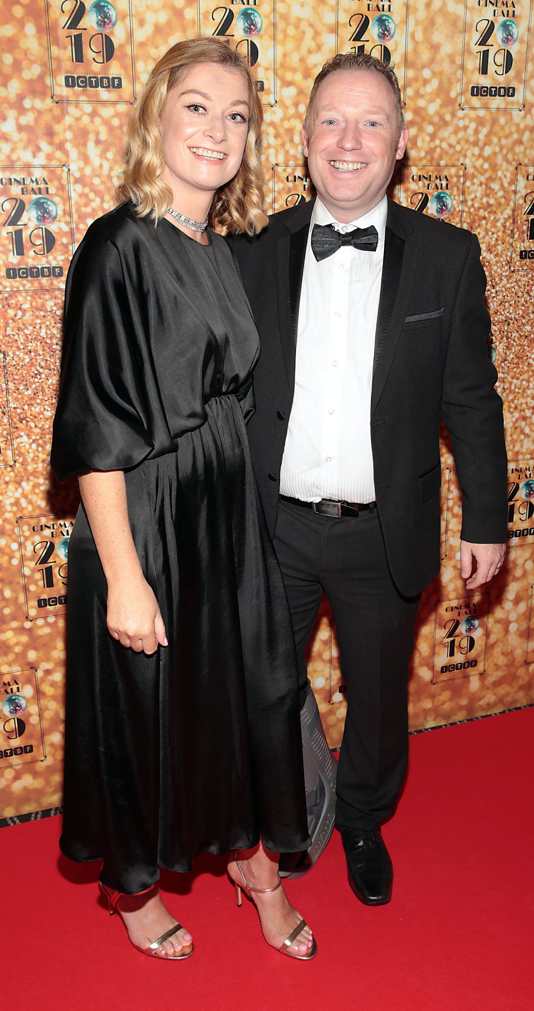 Aoife McCann and Rob Finn  pictured at the Irish Cinema Ball 2019 in aid of the Irish Cinematograph Trade Benevolent Fund (ICTBF ) at The Shelbourne Hotel, Dublin This year's theme was the iconic 'Studio 54'. Pic: Brian McEvoy.