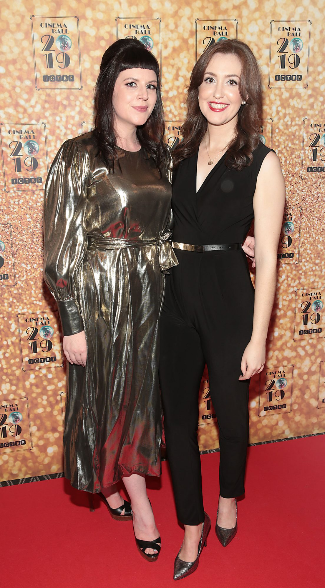 Cat Byrne and Alma Mannion  pictured at the Irish Cinema Ball 2019 in aid of the Irish Cinematograph Trade Benevolent Fund (ICTBF ) at The Shelbourne Hotel, Dublin This year's theme was the iconic 'Studio 54'. Pic: Brian McEvoy.