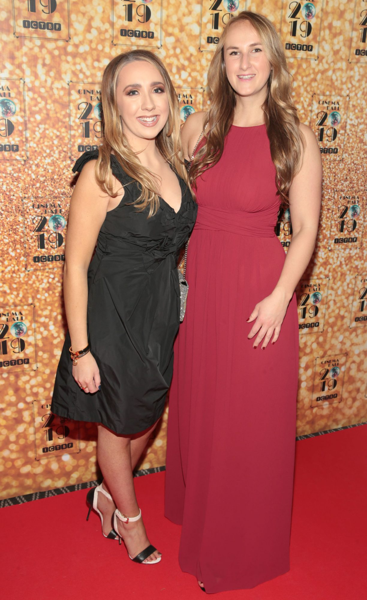 Lara Walsh and Angela Grishin pictured at the Irish Cinema Ball 2019 in aid of the Irish Cinematograph Trade Benevolent Fund (ICTBF ) at The Shelbourne Hotel, Dublin This year's theme was the iconic 'Studio 54'. Pic: Brian McEvoy.