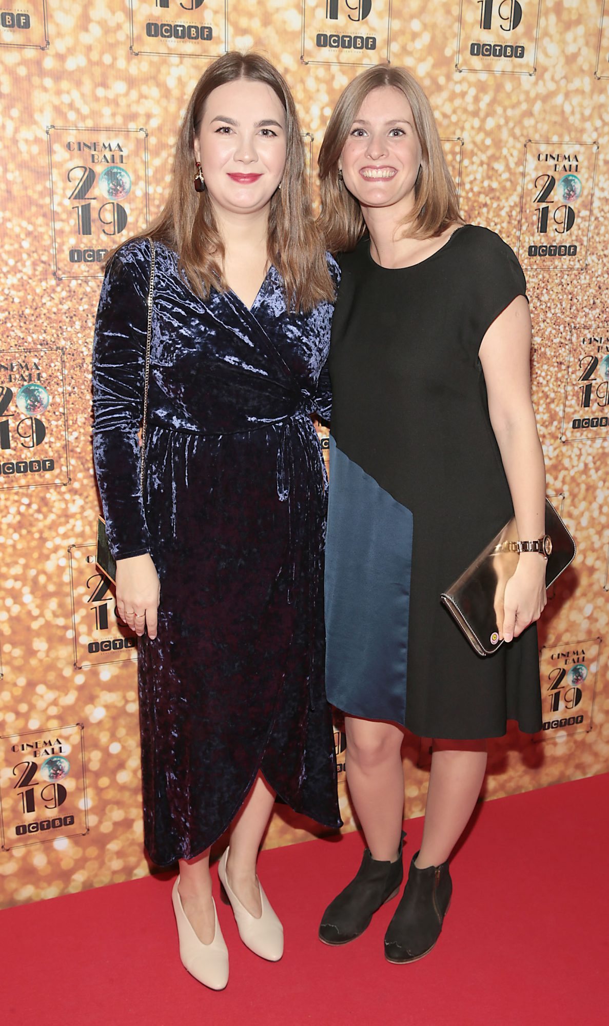 Albina Terentjeva and Kate Willoughby  pictured at the Irish Cinema Ball 2019 in aid of the Irish Cinematograph Trade Benevolent Fund (ICTBF ) at The Shelbourne Hotel, Dublin This year's theme was the iconic 'Studio 54'. Pic: Brian McEvoy.