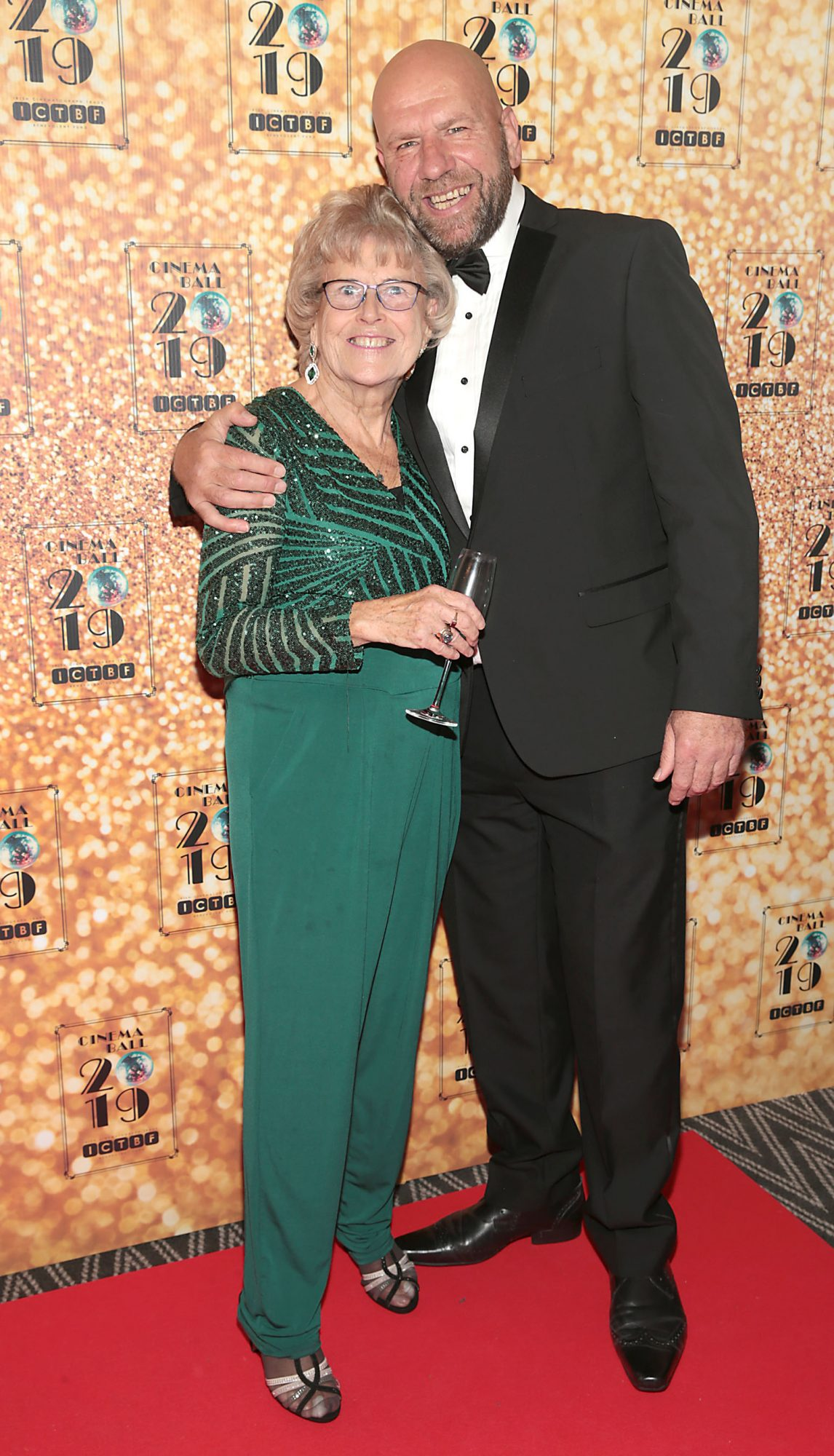 Pat Kearns and Chris Feltham pictured at the Irish Cinema Ball 2019 in aid of the Irish Cinematograph Trade Benevolent Fund (ICTBF ) at The Shelbourne Hotel, Dublin This year's theme was the iconic 'Studio 54'. Pic: Brian McEvoy.