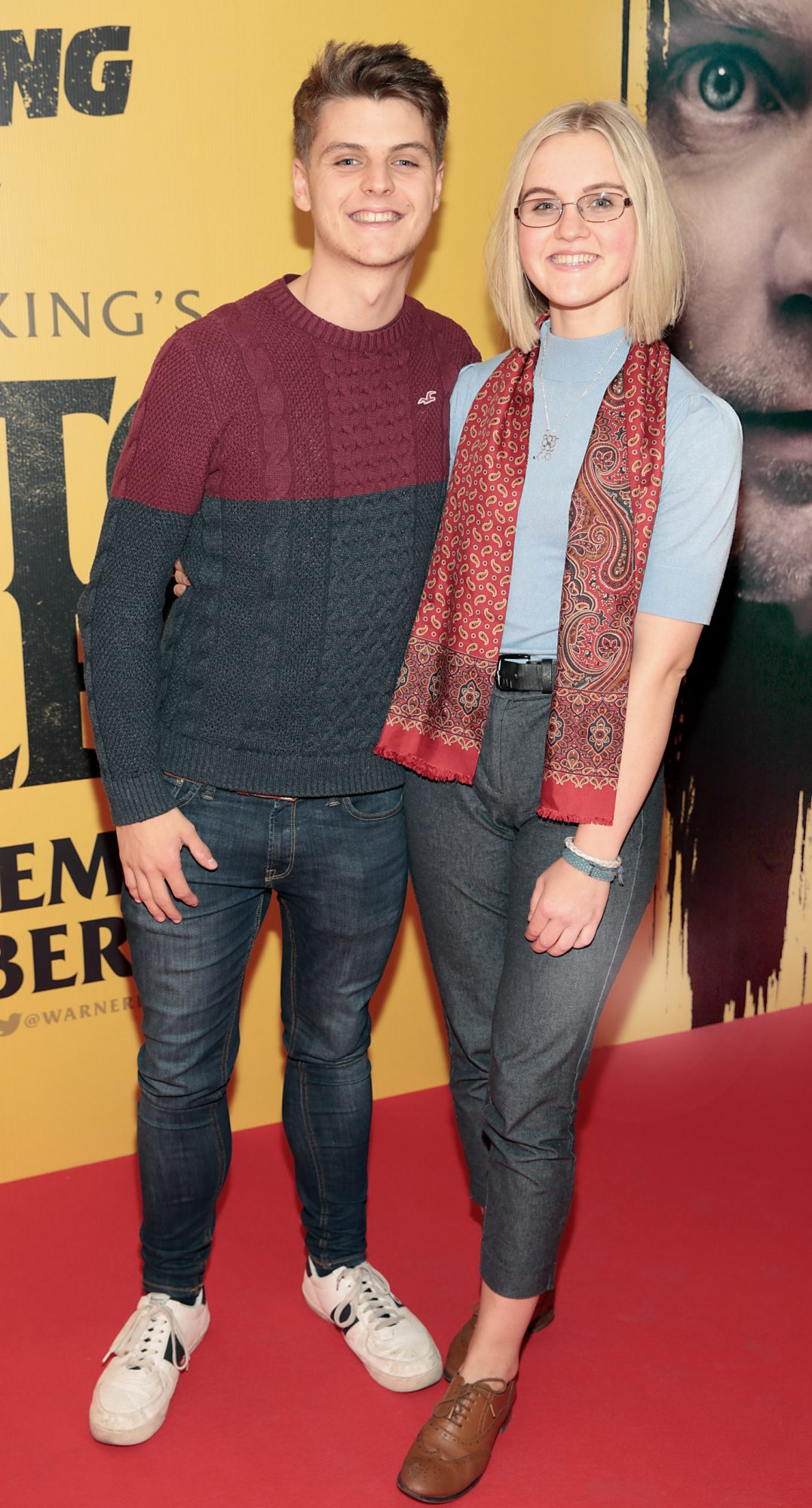 Evan McLoughlin and Katie Smirnou at the special preview screening of Doctor Sleep at the Light House Cinema, Dublin. Pic: Brian McEvoy.