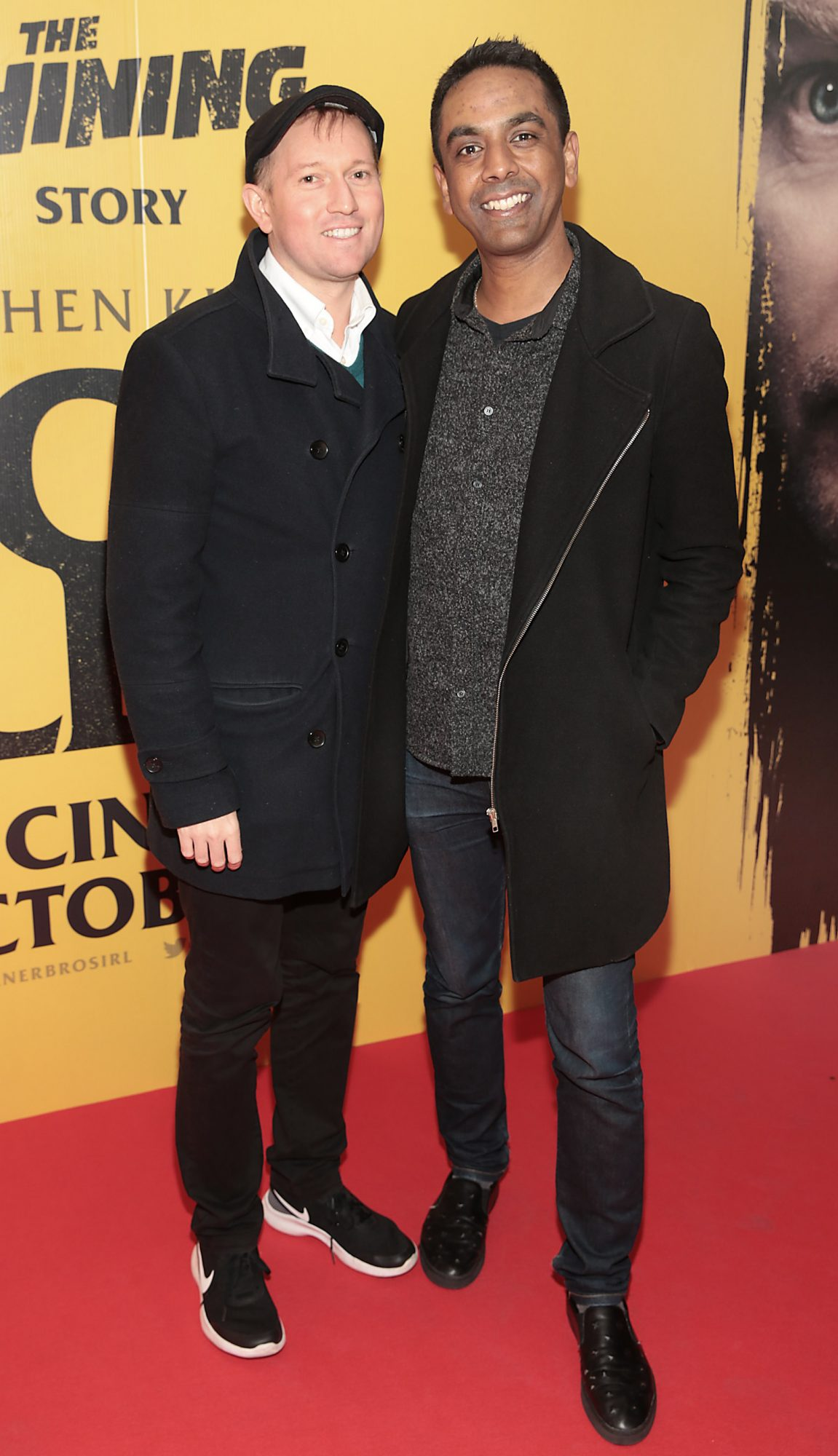 David Mitchell and Clint Drieberg at the special preview screening of Doctor Sleep at the Light House Cinema, Dublin. Pic: Brian McEvoy.