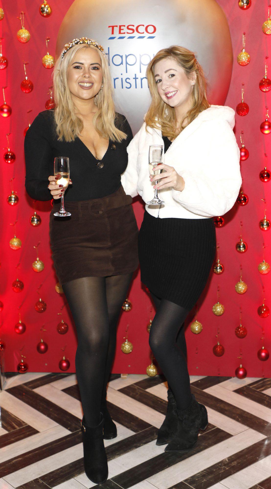 Ali Ryan and Alice McAlinden at the Tesco 2019 Christmas Showcase in Dublin's Iveagh Garden Hotel.  Photo: Kieran Harnett