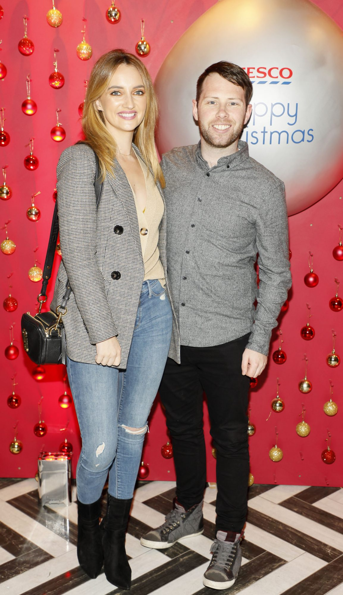 Caroline Foran and Alan Keane at the Tesco 2019 Christmas Showcase in Dublin's Iveagh Garden Hotel.   Photo: Kieran Harnett