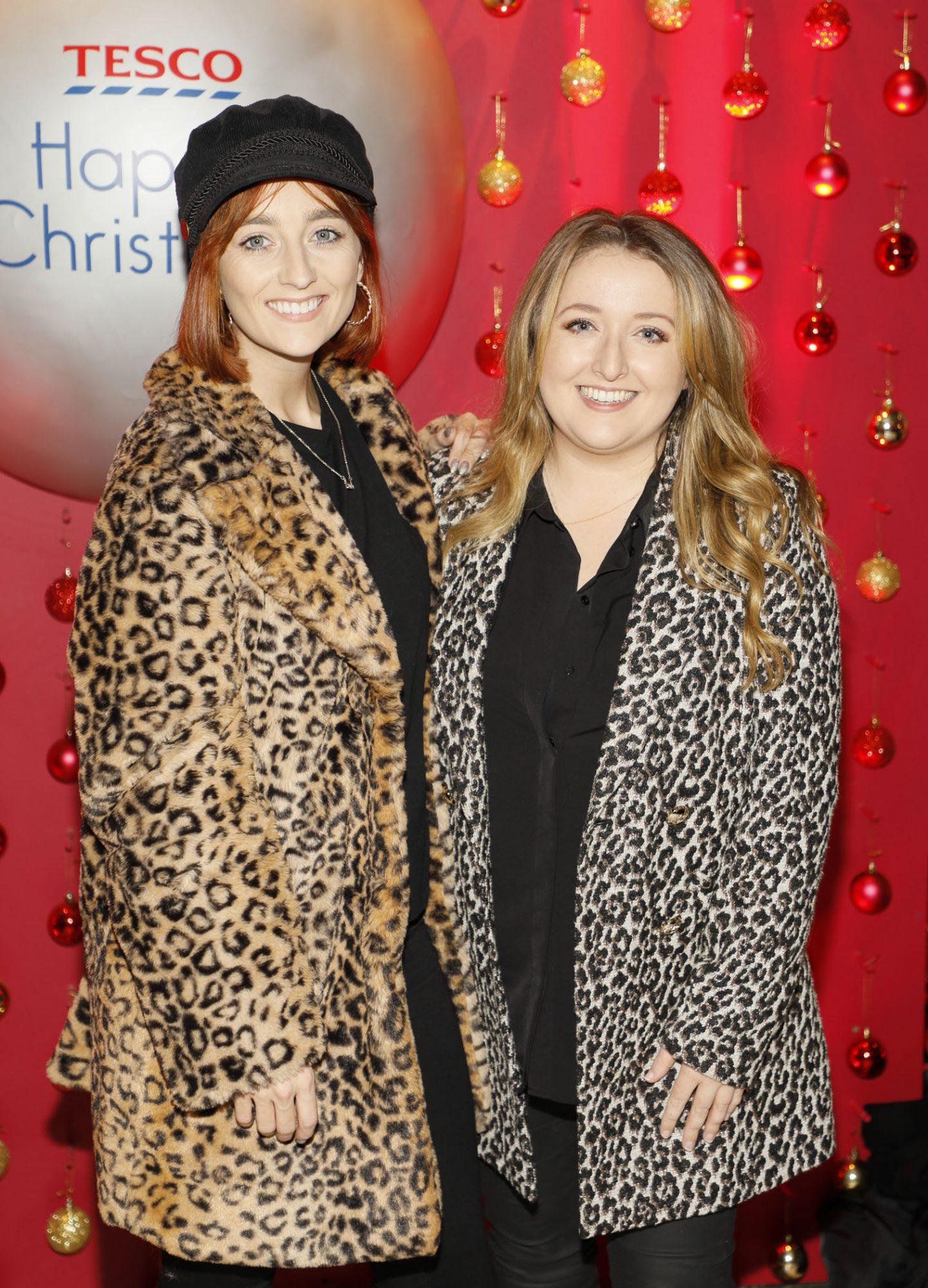 Hannah O'Connell and Rebecca Shekleton at the Tesco 2019 Christmas Showcase in Dublin's Iveagh Garden Hotel.   Photo: Kieran Harnett