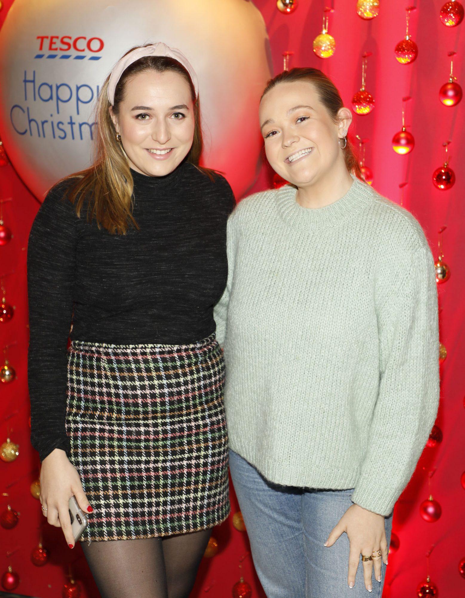 Lorna Lawless and Blaithin Gallagher at the Tesco 2019 Christmas Showcase in Dublin's Iveagh Garden Hotel.   Photo: Kieran Harnett