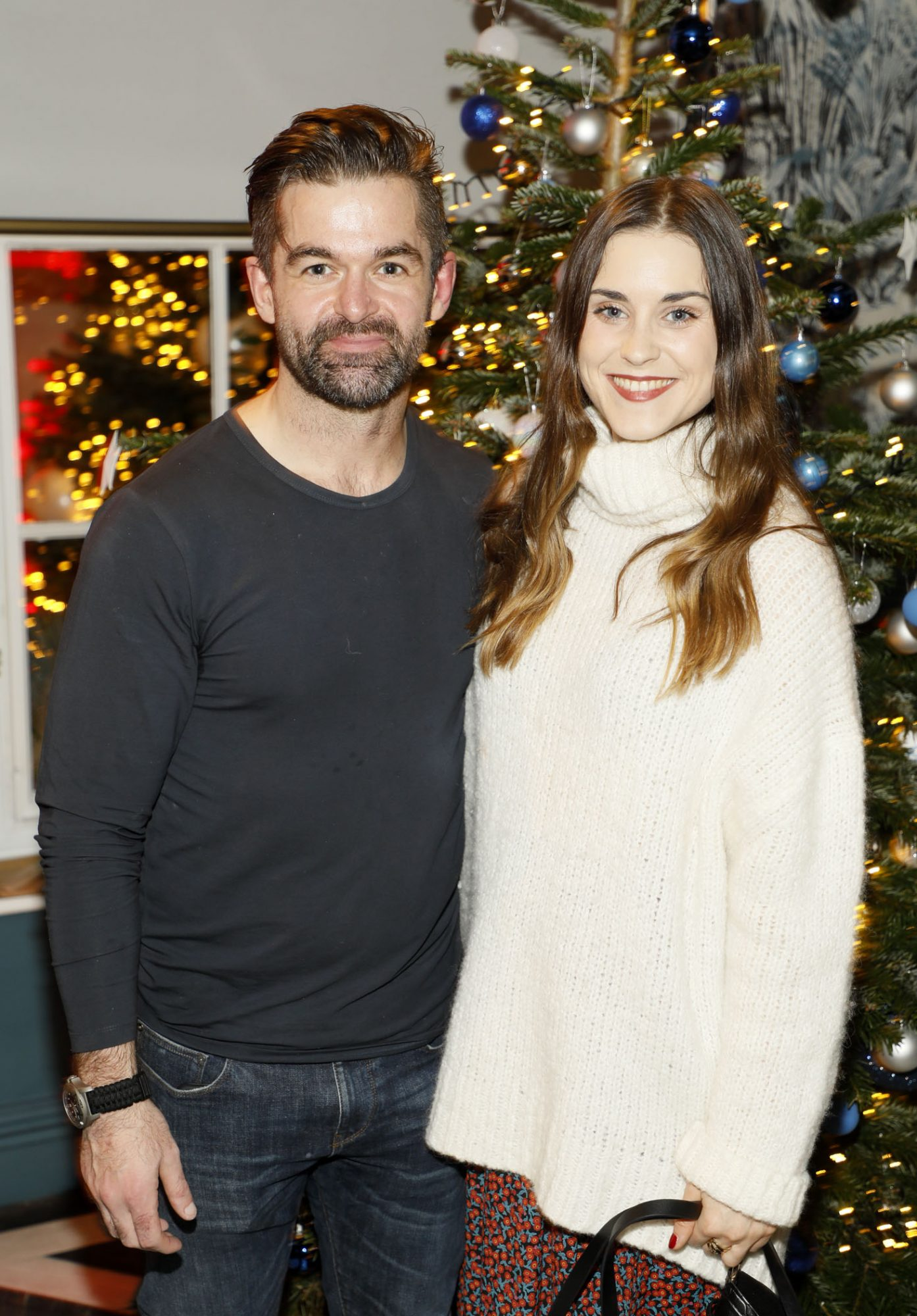 Mike Sheridan and Jo Linehan at the Tesco 2019 Christmas Showcase in Dublin's Iveagh Garden Hotel.   Photo: Kieran Harnett