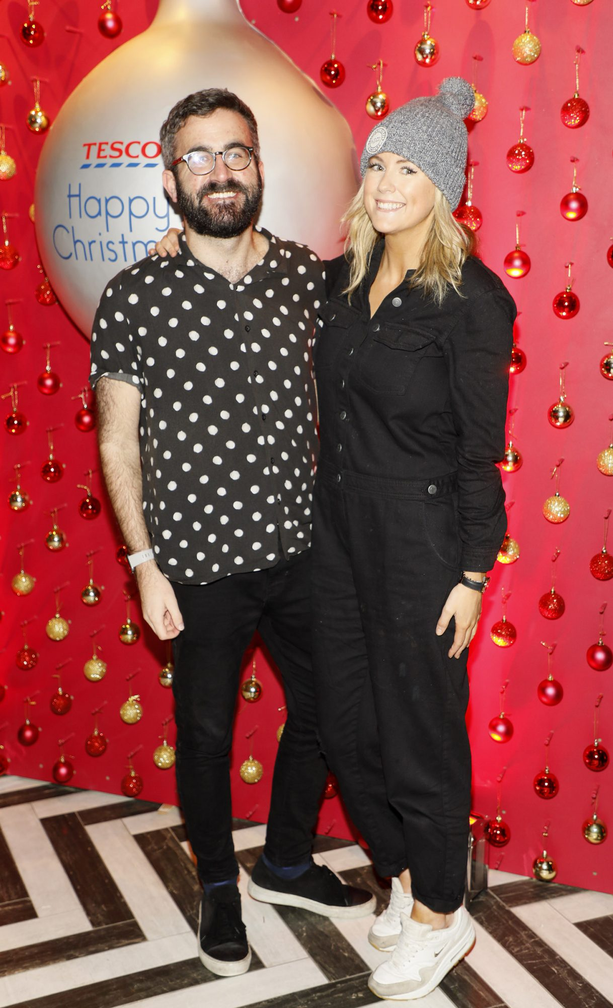 Patrick Kavanagh and Cassie Stokes at the Tesco 2019 Christmas Showcase in Dublin's Iveagh Garden Hotel.   Photo: Kieran Harnett