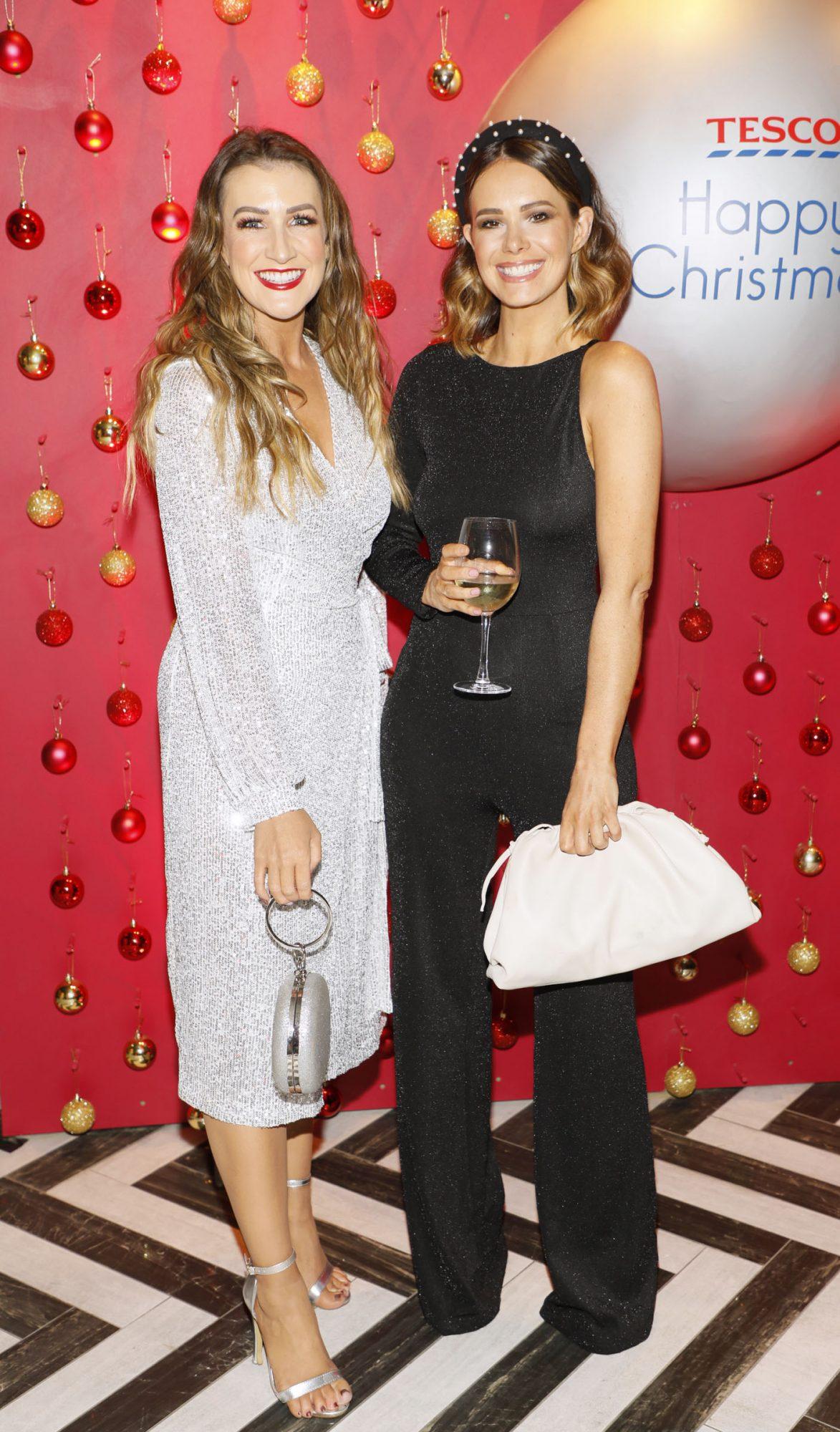 Rebecca Rose and Carol Byrne at the Tesco 2019 Christmas Showcase in Dublin's Iveagh Garden Hotel.  Photo: Kieran Harnett