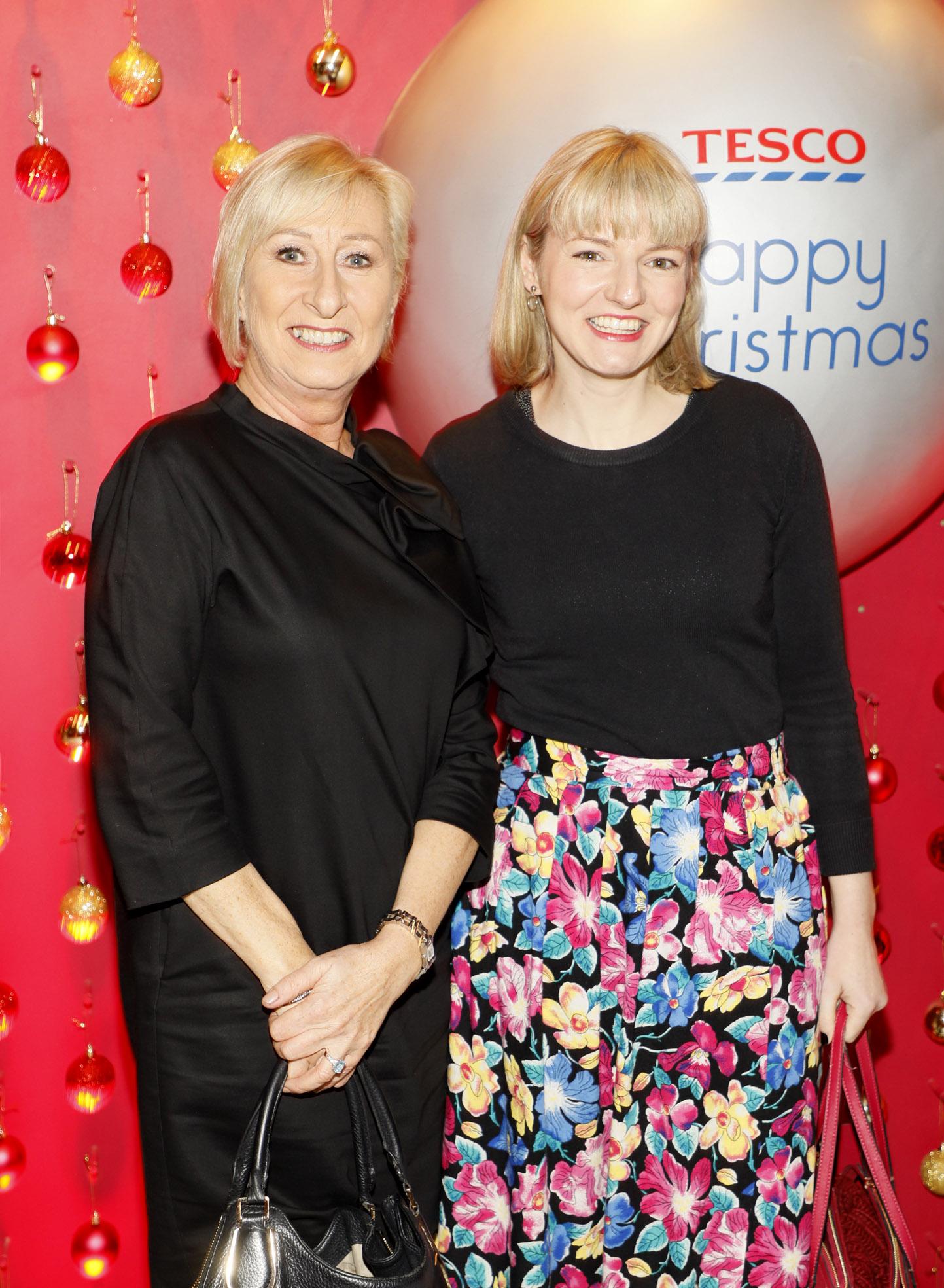 Regina Hinds and Emily Elphinstone at the Tesco 2019 Christmas Showcase in Dublin's Iveagh Garden Hotel.   Photo: Kieran Harnett