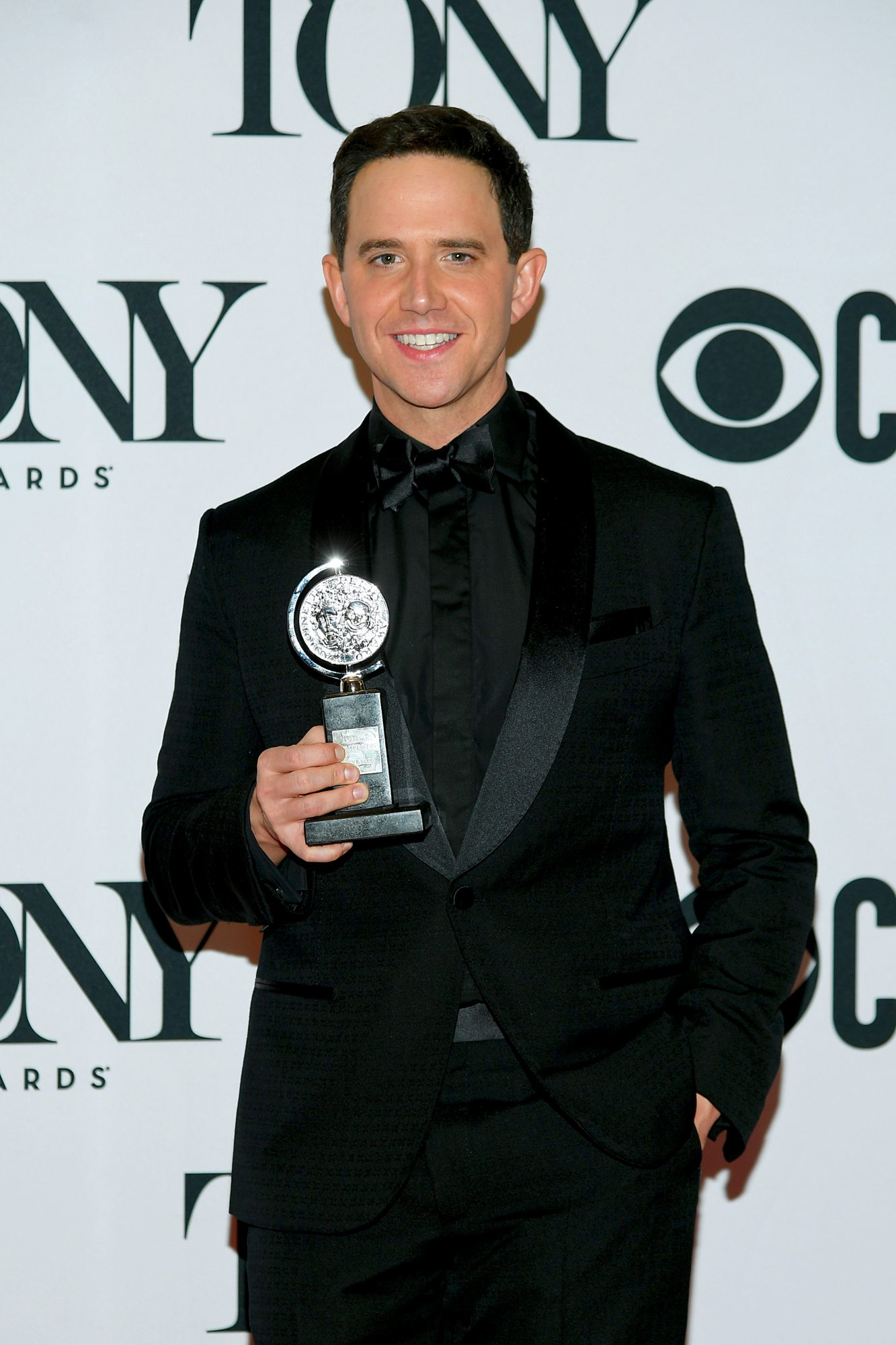 "NEW YORK, NEW YORK - JUNE 09: Santino Fontana, winner of the award for Best Performance by an Actor in a Leading Role in a Musical for ""Tootsie,"" poses in the press room for the 73rd Annual Tony Awards at 3 West Club on June 9, 2019 in New York City. (Photo by Mike Coppola/Getty Images for Tony Awards Productions)"