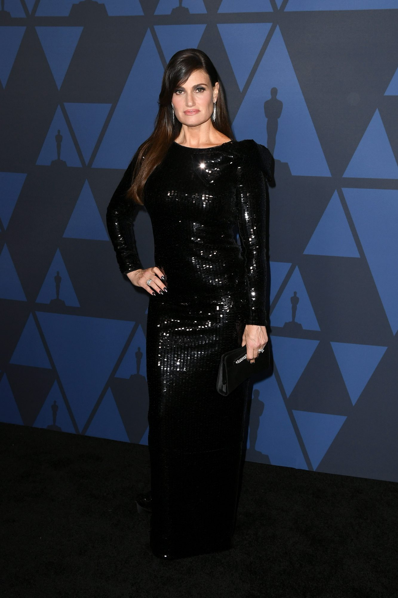 HOLLYWOOD, CALIFORNIA - OCTOBER 27: Idina Menzel attends the Academy Of Motion Picture Arts And Sciences' 11th Annual Governors Awards at The Ray Dolby Ballroom at Hollywood & Highland Center on October 27, 2019 in Hollywood, California. (Photo by Kevin Winter/Getty Images)