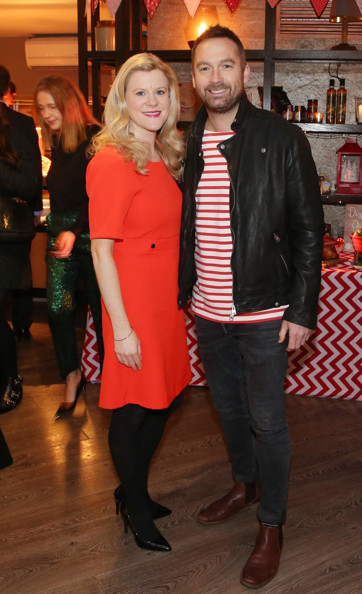 Keith Walsh and Naula Carey pictured at the Aldi Amazing Christmas Showcase 2019. Photograph: Leon Farrell / Photocall Ireland