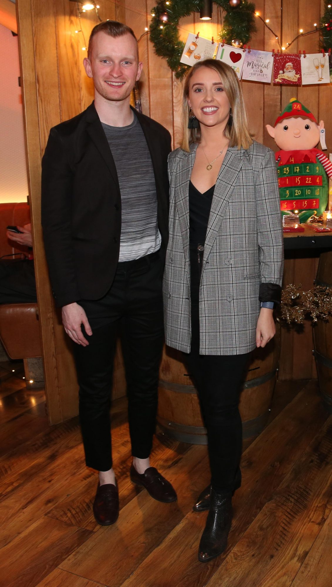 Ian Collins and Nicole Osborne pictured at the Aldi Amazing Christmas Showcase 2019. Photograph: Leon Farrell / Photocall Ireland