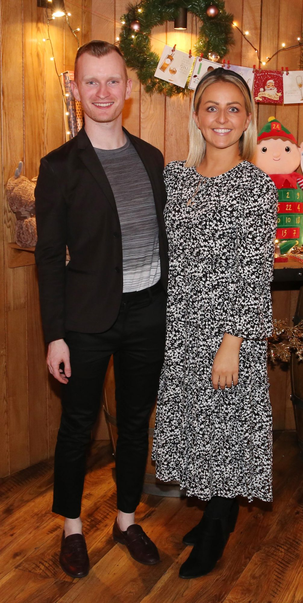 Ian Collins and Aislinn O'Toole pictured at the Aldi Amazing Christmas Showcase 2019. Photograph: Leon Farrell / Photocall Ireland