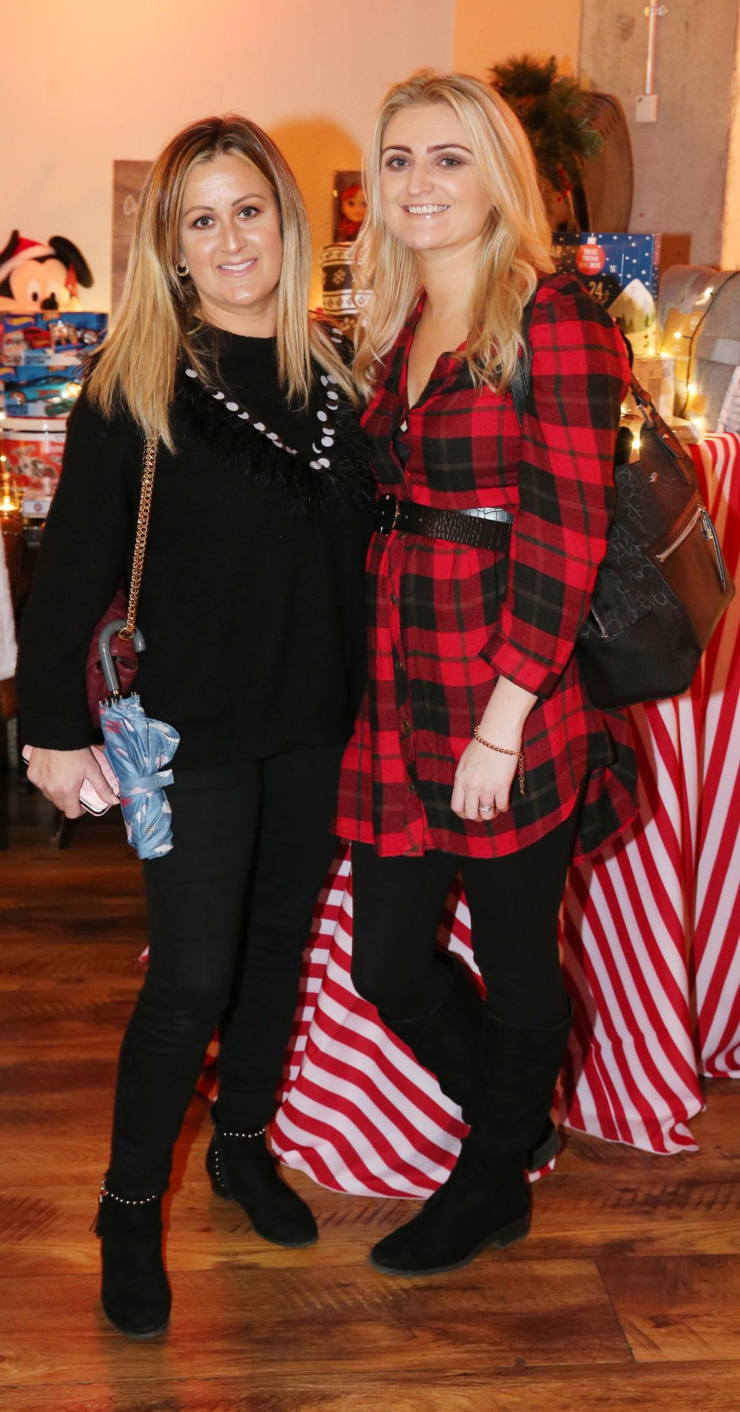 Aoife Bermingham & Grace Rattigan pictured at the Aldi Amazing Christmas Showcase 2019. Photograph: Leon Farrell / Photocall Ireland