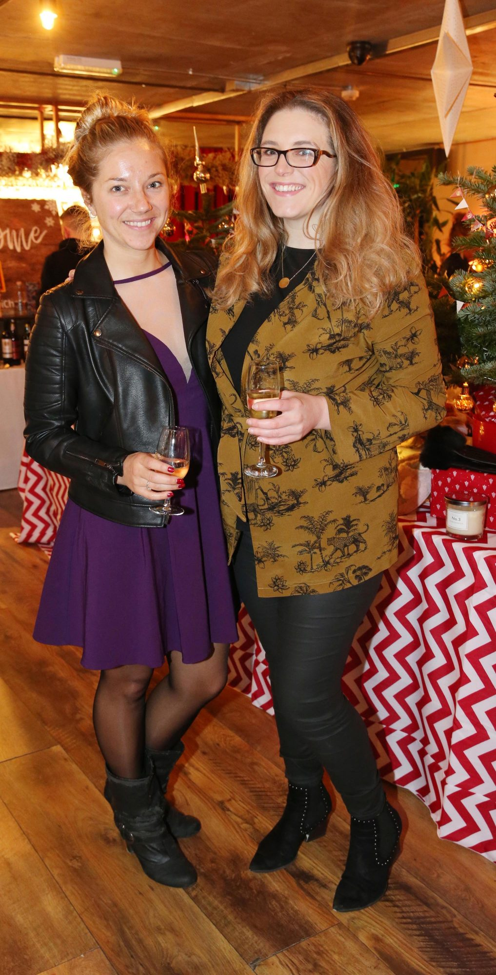 Jess O'Sullivan and Bryana Tunder pictured at the Aldi Amazing Christmas Showcase 2019. Photograph: Leon Farrell / Photocall Ireland