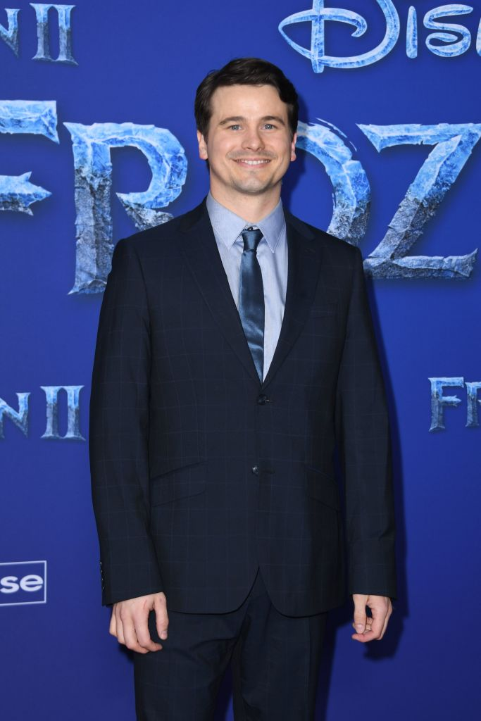 "US actor Jason Ritter arrives for Disney's World Premiere of ""Frozen 2"" at the Dolby theatre in Hollywood on November 7, 2019. (Photo by VALERIE MACON/AFP via Getty Images)"