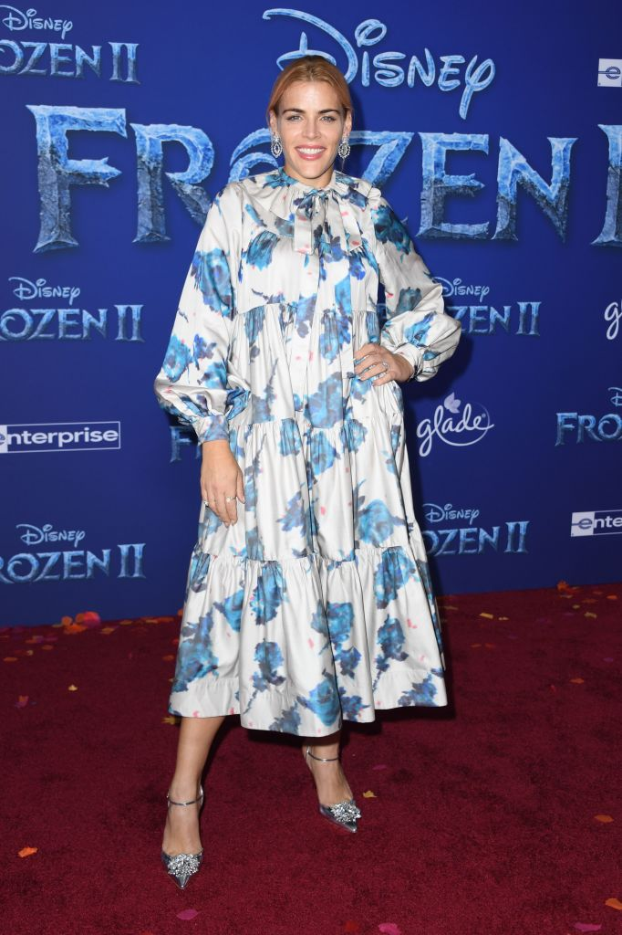 "US actress Busy Philipps arrives for Disney's World Premiere of ""Frozen 2"" at the Dolby theatre in Hollywood on November 7, 2019. (Photo by VALERIE MACON/AFP via Getty Images)"