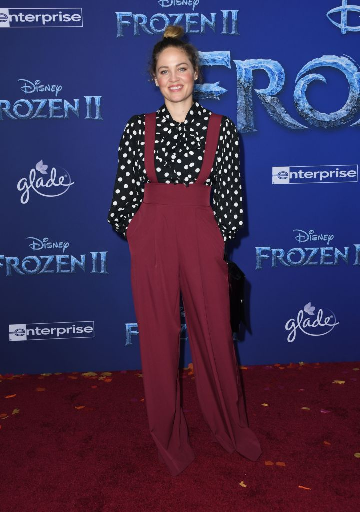 "US actress Erika Christensen arrives for Disney's World Premiere of ""Frozen 2"" at the Dolby theatre in Hollywood on November 7, 2019. (Photo by VALERIE MACON/AFP via Getty Images)"