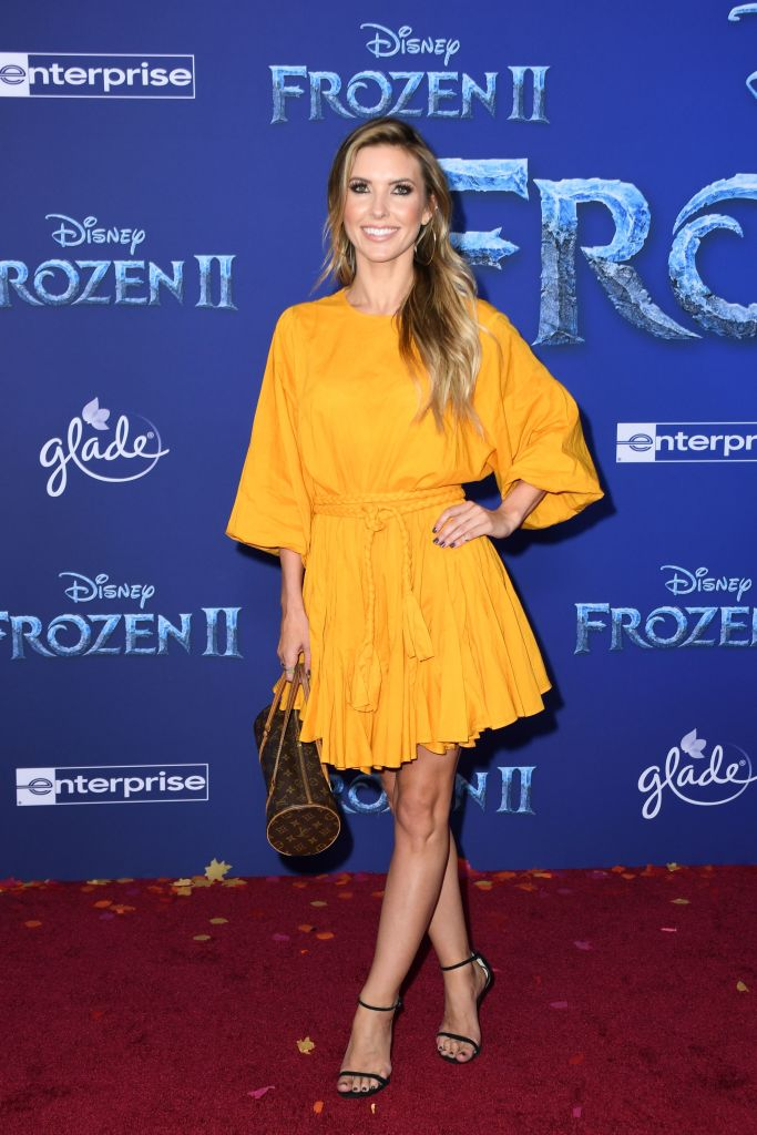 "US television personality Audrina Partridge arrives for Disney's World Premiere of ""Frozen 2"" at the Dolby theatre in Hollywood on November 7, 2019. (Photo by VALERIE MACON/AFP via Getty Images)"