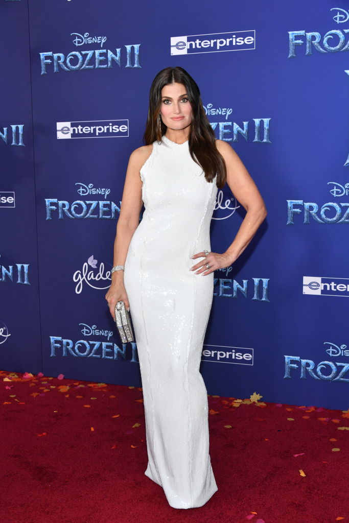 "Idina Menzel attends the premiere of Disney's ""Frozen 2"" at Dolby Theatre on November 07, 2019 in Hollywood, California. (Photo by Amy Sussman/Getty Images)"