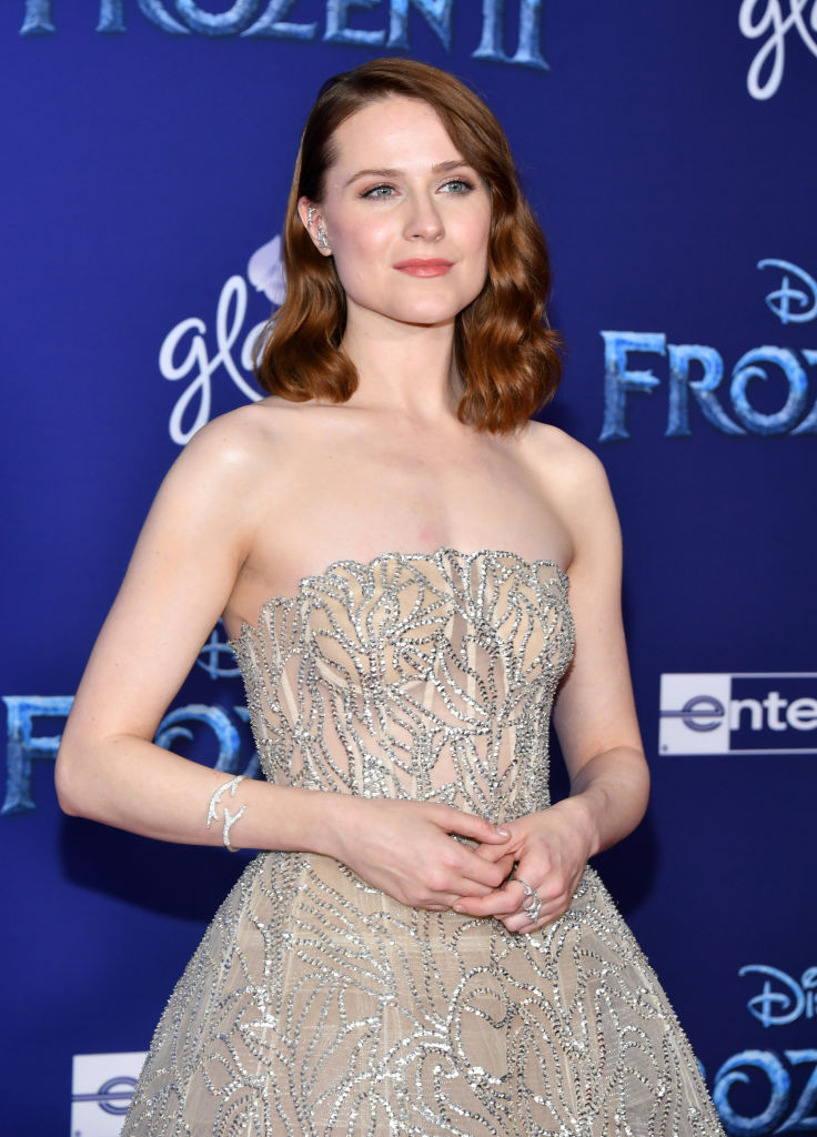 "Evan Rachel Wood attends the premiere of Disney's ""Frozen 2"" at Dolby Theatre on November 07, 2019 in Hollywood, California. (Photo by Amy Sussman/Getty Images)"