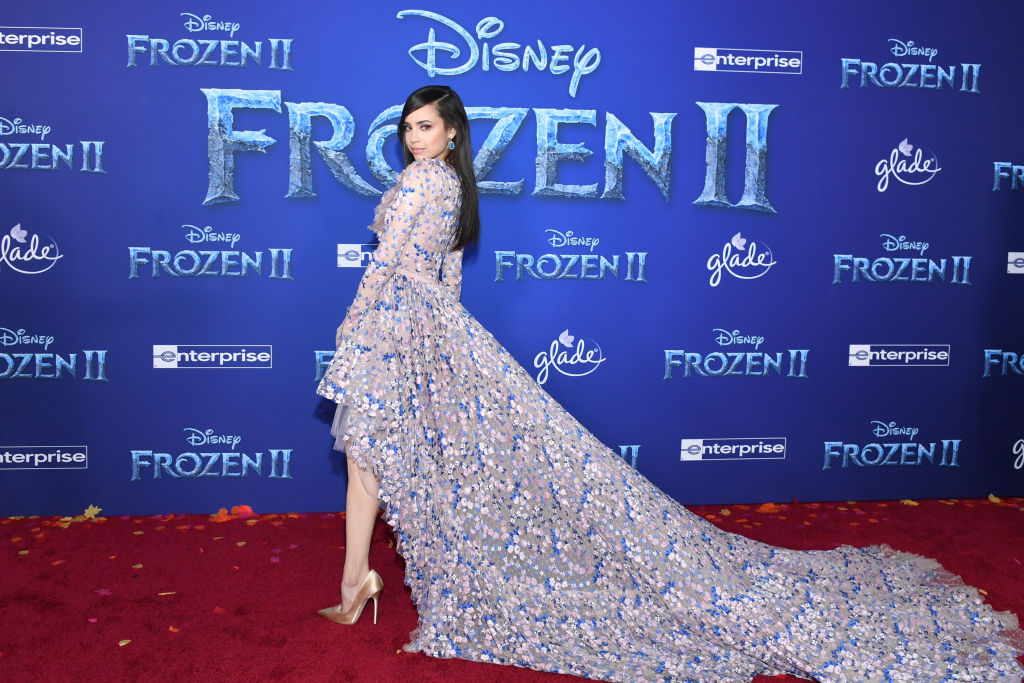 "Sofia Carson attends the premiere of Disney's ""Frozen 2"" at Dolby Theatre on November 07, 2019 in Hollywood, California. (Photo by Amy Sussman/Getty Images)"