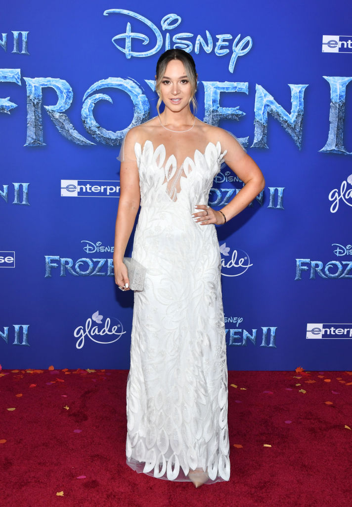 "Alisha Marie attends the premiere of Disney's ""Frozen 2"" at Dolby Theatre on November 07, 2019 in Hollywood, California. (Photo by Amy Sussman/Getty Images)"