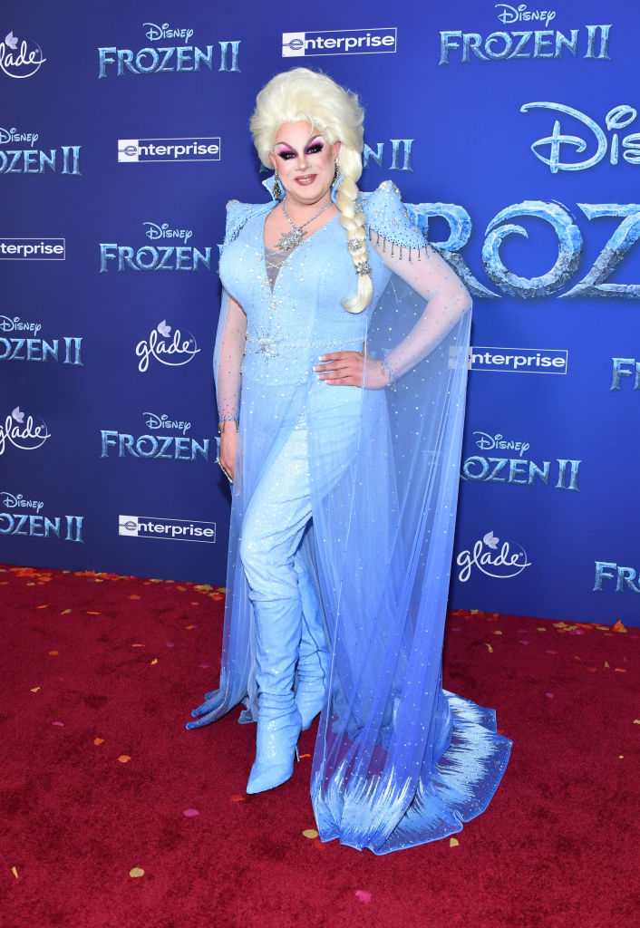 "Nina West attends the premiere of Disney's ""Frozen 2"" at Dolby Theatre on November 07, 2019 in Hollywood, California. (Photo by Amy Sussman/Getty Images)"