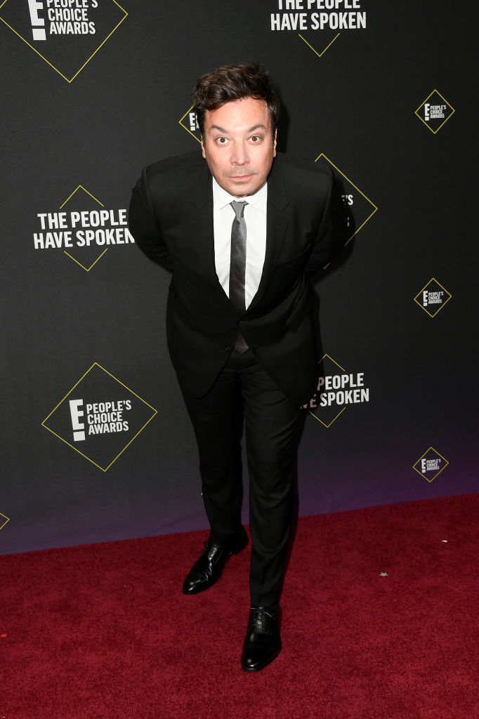 Jimmy Fallon attends the 2019 E! People's Choice Awards at Barker Hangar on November 10, 2019 in Santa Monica, California. (Photo by Frazer Harrison/Getty Images)