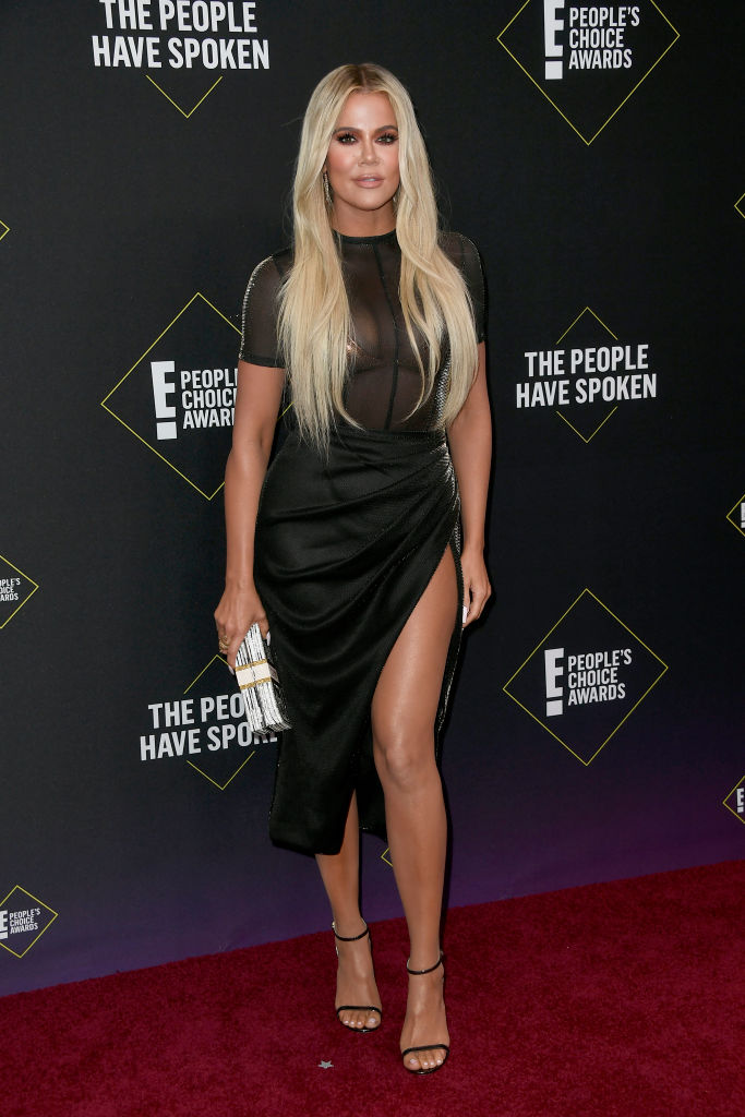 Khloé Kardashian attends the 2019 E! People's Choice Awards at Barker Hangar on November 10, 2019 in Santa Monica, California. (Photo by Frazer Harrison/Getty Images)