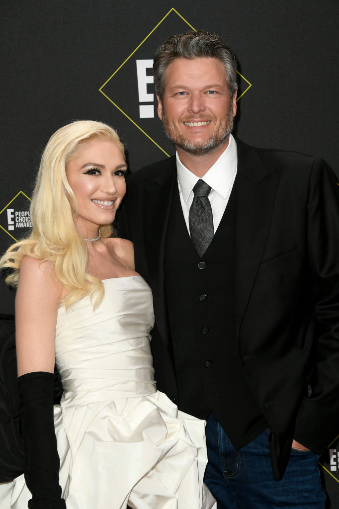 Gwen Stefani and Blake Shelton attend the 2019 E! People's Choice Awards at Barker Hangar on November 10, 2019 in Santa Monica, California. (Photo by Frazer Harrison/Getty Images)
