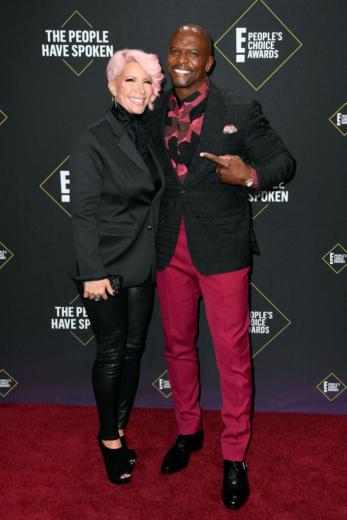 (L-R) Rebecca Crews and Terry Crews attends the 2019 E! People's Choice Awards at Barker Hangar on November 10, 2019 in Santa Monica, California. (Photo by Frazer Harrison/Getty Images)